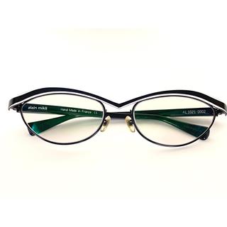 アランミクリ alainmikli フレーム 黒×白 眼鏡 メガネ