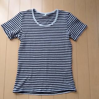 ムジルシリョウヒン(MUJI (無印良品))の無印 ボーダー Tシャツ(Tシャツ(半袖/袖なし))