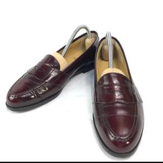 リーガル(REGAL)の【良品】REGAL コインローファー バーガンディー 学生靴 革靴 23.5cm(ローファー/革靴)