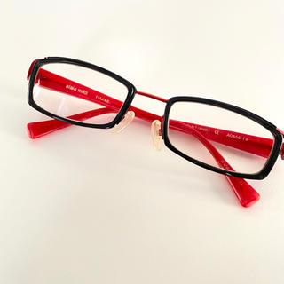 アランミクリ(alanmikli)のアランミクリ alain mikli セル&金属フレーム 黒×赤 眼鏡 メガネ(サングラス/メガネ)