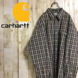カーハート(carhartt)のカーハート 革タグ ダブルポケット ビッグサイズ マルチカラー  長袖 2XL(シャツ)