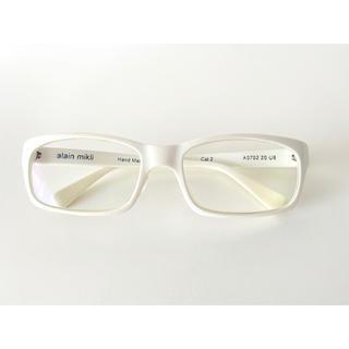alanmikli - アランミクリ alain mikli 白 セルフレーム メガネ 眼鏡 フルリム