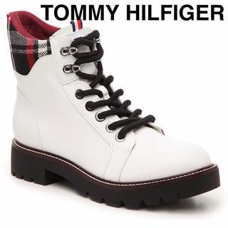 トミーヒルフィガー(TOMMY HILFIGER)のトミー ヒルフィガー 新品 マーチンブーツ ショートブーツ エンジニアブーツ 白(ブーツ)