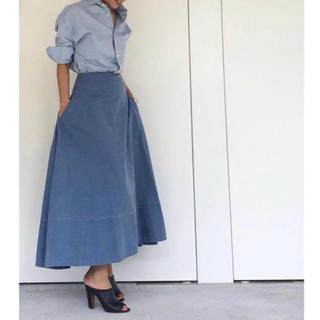 マディソンブルー(MADISONBLUE)のマディソンブルー バックサテンスカート(ロングスカート)
