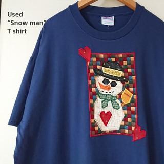 ヘインズ(Hanes)の☆US古着ビッグサイズ!XL/Hanes/雪だるま/パッチワーク(Tシャツ/カットソー(半袖/袖なし))