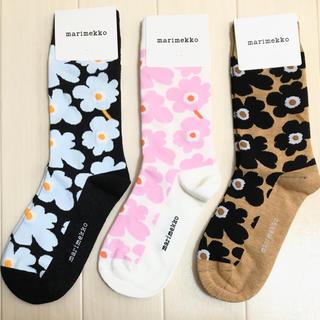 マリメッコ(marimekko)の新品 マリメッコ 靴下 3足セット(ソックス)