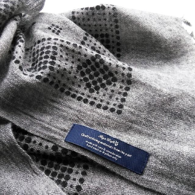 L'Appartement DEUXIEME CLASSE(アパルトモンドゥーズィエムクラス)の美品 Baje Craft✨バジェクラフト バンダナドット カシミヤ ストール レディースのファッション小物(ストール/パシュミナ)の商品写真