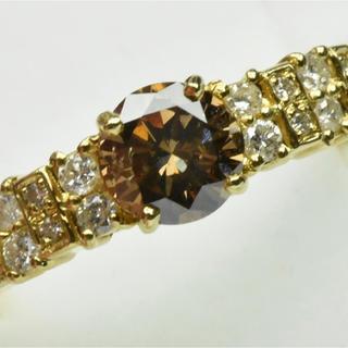 K18 ゴールド 中石 0.50ct ダイヤモンドリング 11号(リング(指輪))