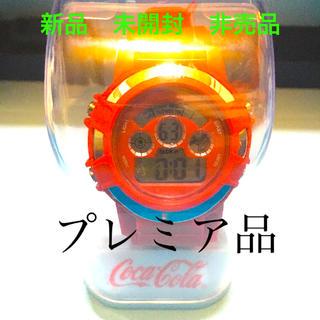 コカコーラ(コカ・コーラ)の【新品】【プレミア品】非売品 コカコーラ デジタル腕時計 オフィシャルグッズ(腕時計(デジタル))