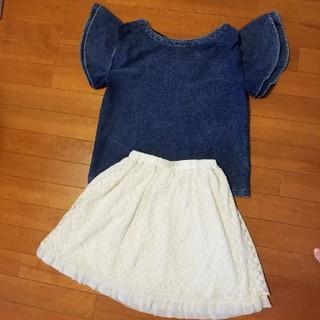ヘザー(heather)の洋服セット セットコーデ デニムトップス(ひざ丈スカート)