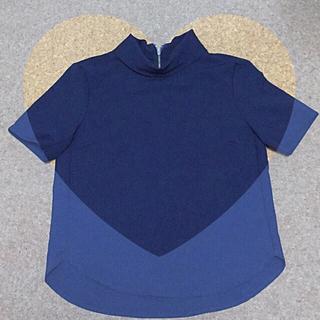 ジーユー(GU)のGU❤︎ ハイネックブラウス(シャツ/ブラウス(半袖/袖なし))