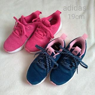 adidas - adidas アディダス キッズ スニーカー 19cm  2足セット