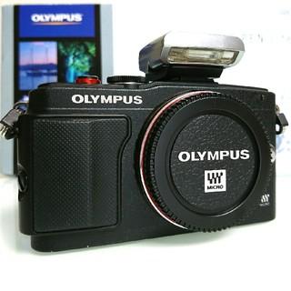 OLYMPUS - 黒 ボディ ミラーレス一眼 オリンパス OLYMPUS PEN PL6