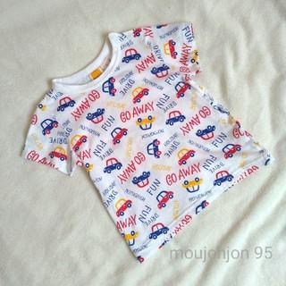 ムージョンジョン(mou jon jon)のmoujonjon ムージョンジョン 白地車柄Tシャツ 95(Tシャツ/カットソー)