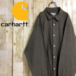 カーハート(carhartt)のカーハート ネームタグ ダブルポケット ビッグサイズ マルチカラー 長袖 2XL(シャツ)