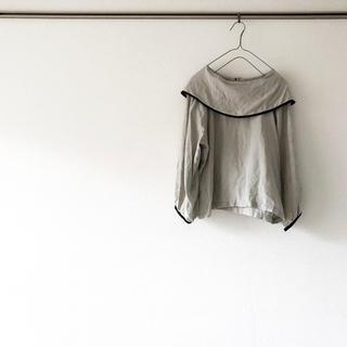 ネストローブ(nest Robe)のハンドメイド 作家様 ブラウス ショールカラー リネン 100% 前後着(シャツ/ブラウス(長袖/七分))