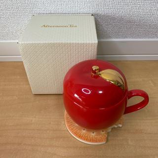 アフタヌーンティー(AfternoonTea)の【入手困難】アフタヌーンティーりんご型マグカップ×森永コラボMARIEコースター(食器)