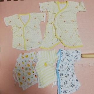 ミキハウス(mikihouse)のミキハウス他 新生児 短肌着 長肌着 コンビ肌着 5枚セット(肌着/下着)