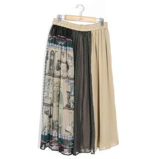 スカラー(ScoLar)のスカラー ScoLar マルチジャガード切替スカート 新品 未使用品(ひざ丈スカート)