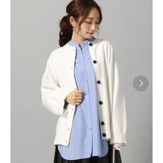 ジーナシス(JEANASIS)のストライプバンドカラーシャツ(シャツ/ブラウス(長袖/七分))