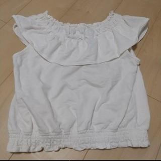 ローリーズファーム(LOWRYS FARM)のLOWRYSFARM 白トップス Tシャツ カットソー ローリーズファーム(カットソー(半袖/袖なし))