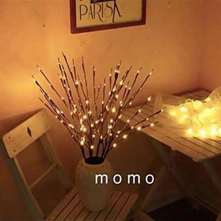 枝型LEDライト♡北欧モダン♡電池式♡ランプ♡インテリア♡ブラウン♡暖光♡雑貨♡