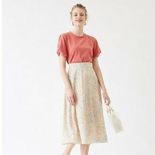 ティティベイト(titivate)の《ティティベイト》水彩画風フラワープリントフレアスカート(ロングスカート)