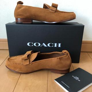 コーチ(COACH)のCOACH コーチ 未使用 スエード 本革 スリップオン サイズ7 24cm(ローファー/革靴)