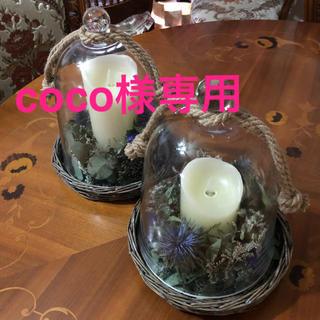 ガラスドーム+ドライフラワー coco様購入用(ドライフラワー)