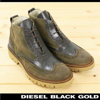 ディーゼル(DIESEL)の未使用品♡DIESEL BLACK GOLD カントリーブーツ 27cm(ブーツ)