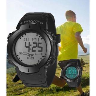 ダイバーズタイプ HONHXドット アウトドア 新品未使用 3気圧防水腕時計(腕時計(デジタル))