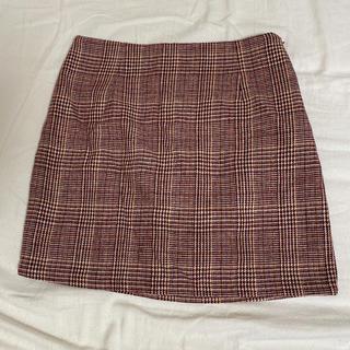 韓国 ミニスカート チェックスカート(ミニスカート)