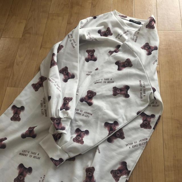 しまむら(シマムラ)の人気 くまt ルームウェア ワンピ レディースのワンピース(ロングワンピース/マキシワンピース)の商品写真