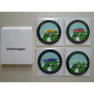 フォルクスワーゲン(Volkswagen)のVolkswagen(フォルクスワーゲン)コースター(ラバー)4枚セット(ノベルティグッズ)