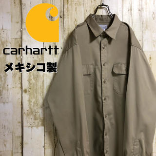 カーハート(carhartt)の【激レア】カーハート ネームタグ ダブルポケット ワークシャツ XL メキシコ製(シャツ)