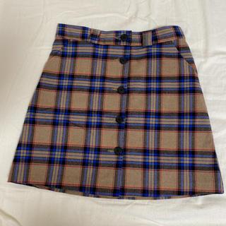 mixxmix ミニスカート チェックスカート プリーツスカート(ミニスカート)