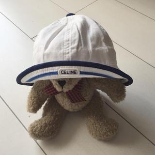 セリーヌ(celine)のCELINE 美品 セリーヌ ベビー 帽子 44㎝(帽子)