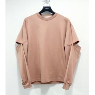 ソーイ(SOE)のsoe Cut-Sleeve L/S Shirts(WALNUT)(Tシャツ/カットソー(七分/長袖))