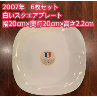 山崎製パン - 2007年 ヤマザキ春のパン祭り 6枚セット 白いスクエアプレート