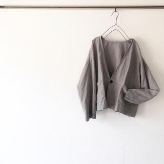 ネストローブ(nest Robe)の◌ 新品 ◌ nest Robe ネストローブ ジャケット グレー リネン(シャツ/ブラウス(長袖/七分))
