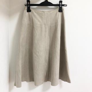 ナチュラルビューティーベーシック(NATURAL BEAUTY BASIC)のナチュラルビューティー スエードスカート (ひざ丈スカート)