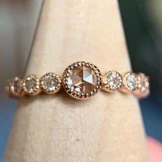 セイレーンアズーロ k18 ロゼッタクラシコ ダイヤモンド リング