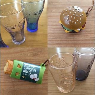 マクドナルド(マクドナルド)のマクドナルド コカコーラ グラス フード ストラップ(ノベルティグッズ)