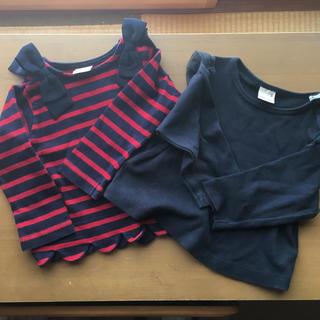 プティマイン(petit main)のプティマイン  長袖 2枚セット 女の子 美品(トレーナー)