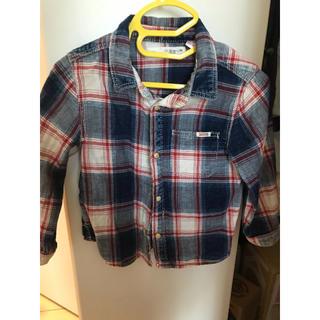 ザラキッズ(ZARA KIDS)のZARA チェックシャツ(シャツ/カットソー)