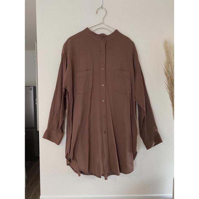LOWRYS FARM(ローリーズファーム)のバンドカラーシャツ レディースのトップス(シャツ/ブラウス(長袖/七分))の商品写真