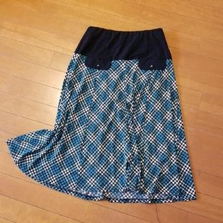 バーバリー(BURBERRY)のロングスカート チェック ヴィンテージ風(ロングスカート)