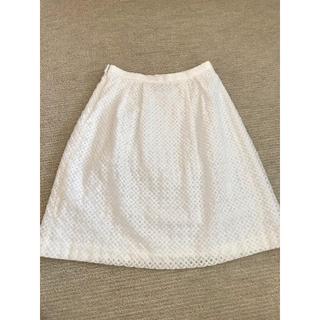 ハナエモリ(HANAE MORI)の近年物 アルマンローズ ハナエモリ ホワイト スカート 40(ひざ丈スカート)