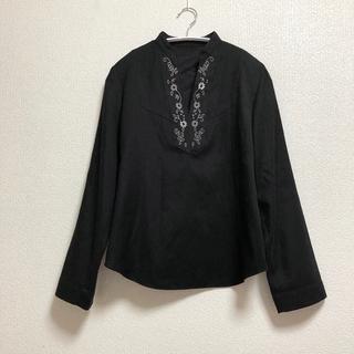 ドゥロワー(Drawer)の黒シャツ(シャツ/ブラウス(長袖/七分))