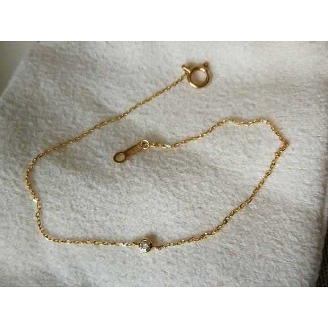 ジュエッテ Jouete K18 ダイヤモンドブレスレット レディースのアクセサリー(ブレスレット/バングル)の商品写真